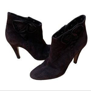 Moschino Cheap and Chic Suede Booties